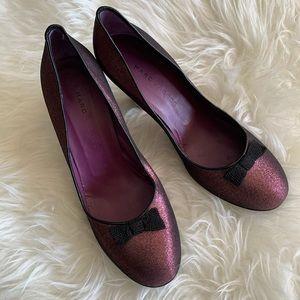 🌴Marc Jacobs Metallic Retro Heels